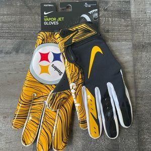 Nike Vapor Jet Pittsburgh Steelers Football Gloves